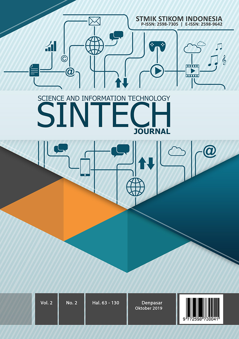 View Vol. 2 No. 2 (2019): SINTECH Journal Edition October 2019